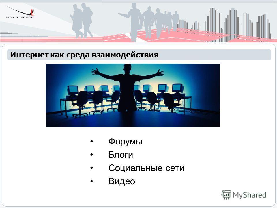 Форумы Блоги Социальные сети Видео Интернет как среда взаимодействия