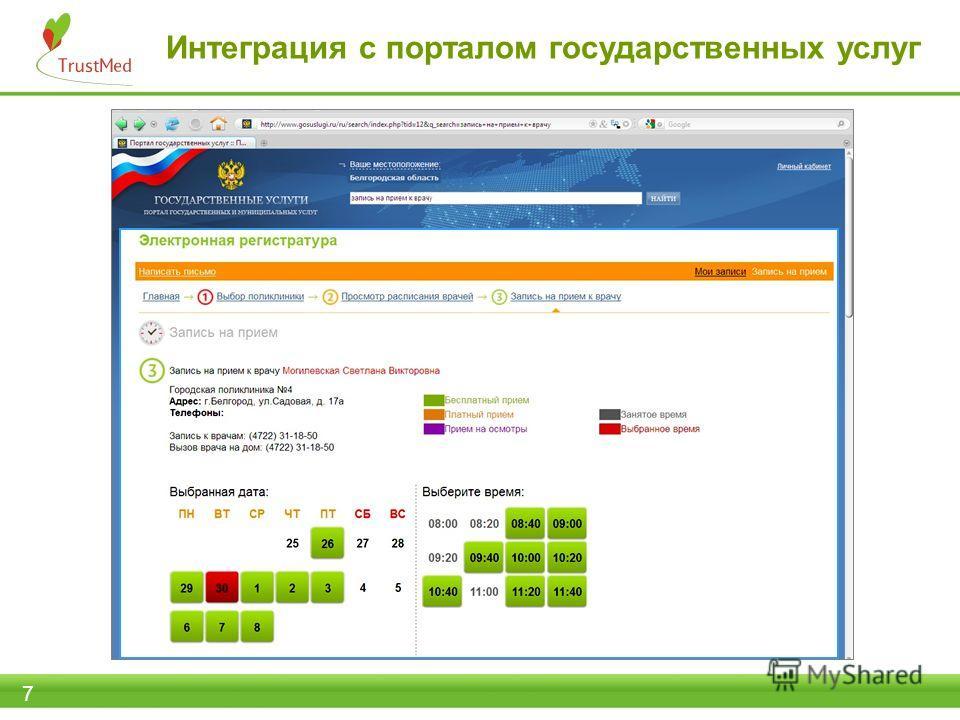 Интеграция с порталом государственных услуг 7