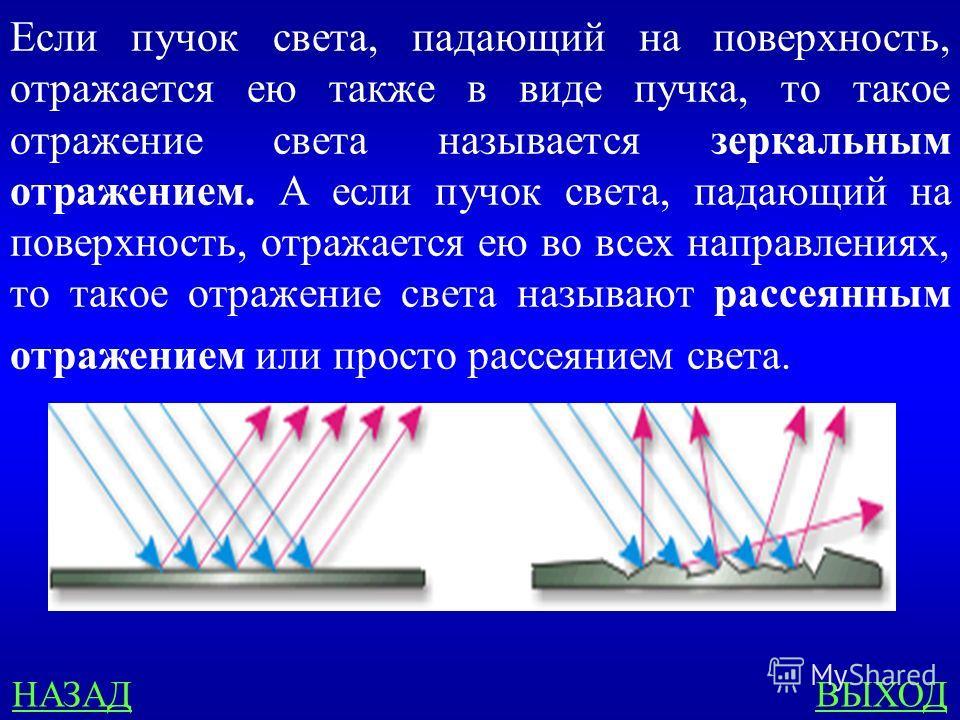 Геометрическая оптика 300 Что такое зеркальное и рассеянное отражение?
