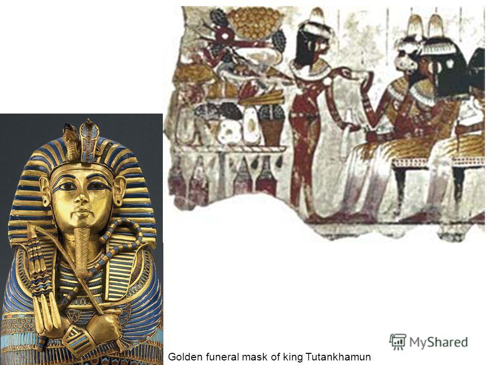 Golden funeral mask of king Tutankhamun