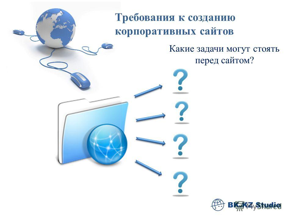 Какие задачи могут стоять перед сайтом? Требования к созданию корпоративных сайтов