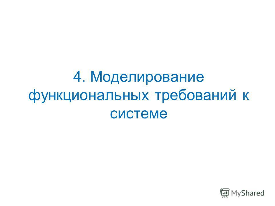 4. Моделирование функциональных требований к системе