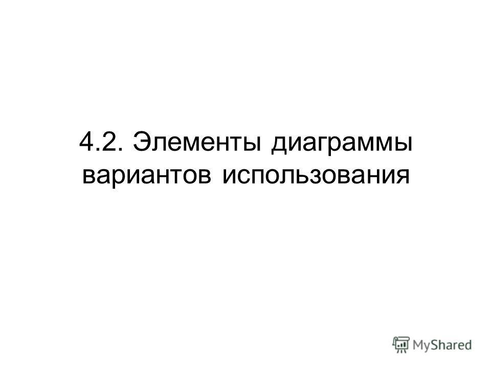 4.2. Элементы диаграммы вариантов использования