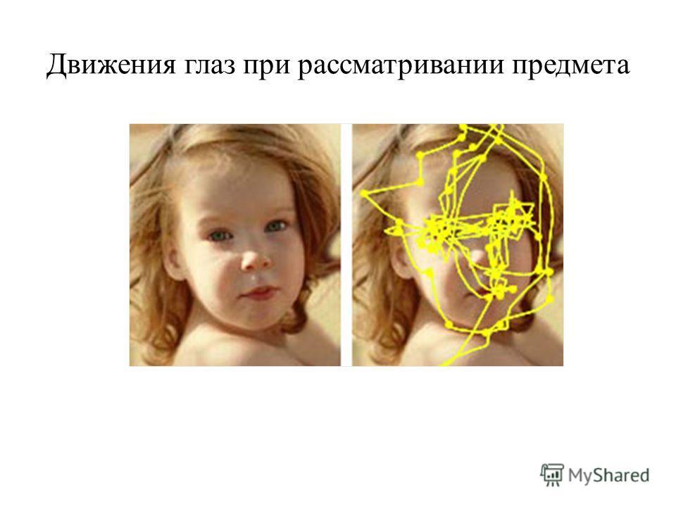 Движения глаз при рассматривании предмета
