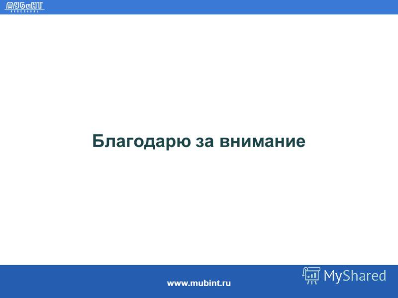 www.mubint.ru Благодарю за внимание