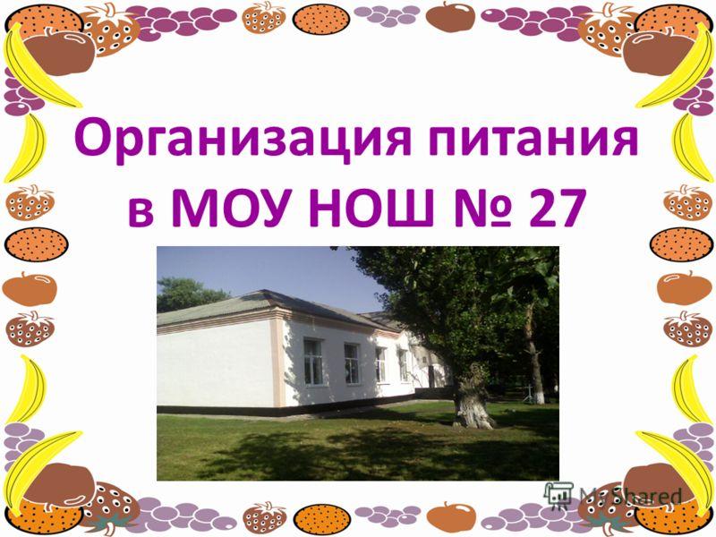 Организация питания в МОУ НОШ 27