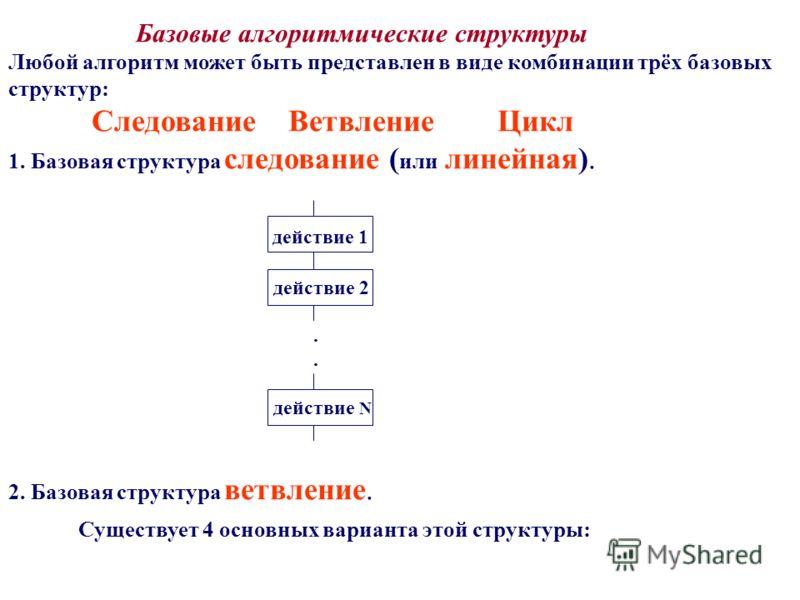 Базовая структура следование