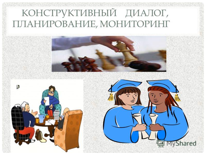 КОНСТРУКТИВНЫЙ ДИАЛОГ, ПЛАНИРОВАНИЕ, МОНИТОРИНГ