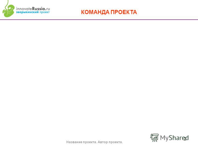 2 Название проекта. Автор проекта. КОМАНДА ПРОЕКТА