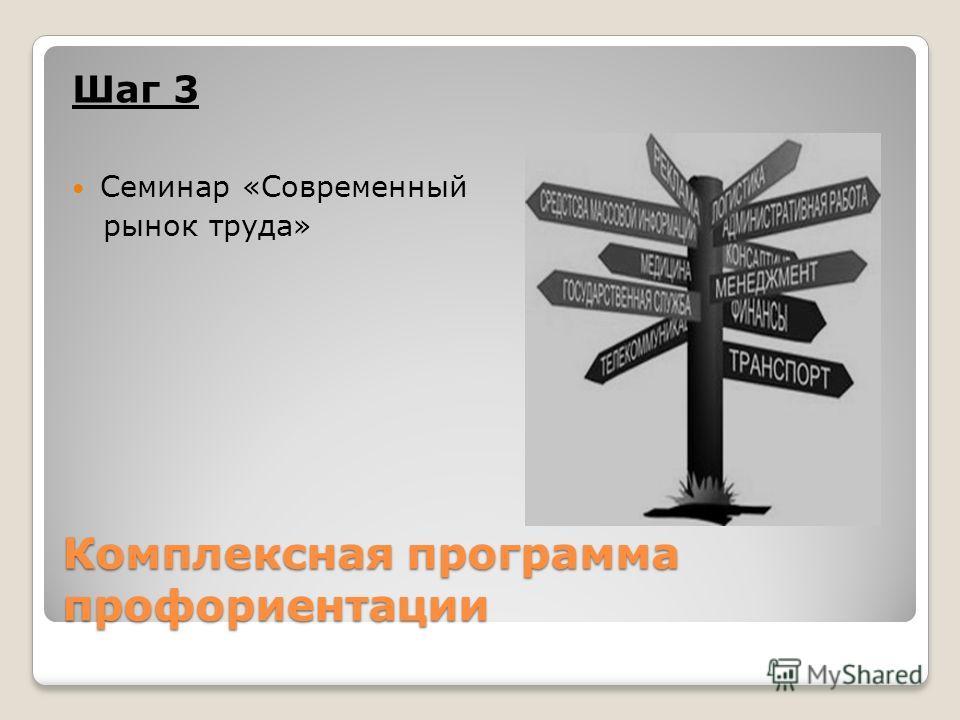 Комплексная программа профориентации Шаг 3 Семинар «Современный рынок труда»