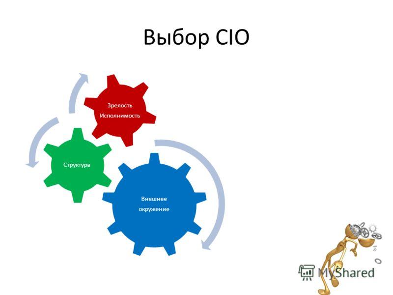 Выбор CIO Внешнее окружение Структура Зрелость Исполнимость
