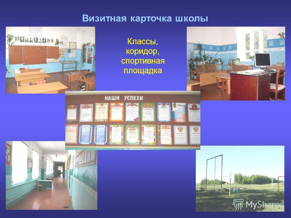 Визитная карточка школы Классы, коридор, спортивная площадка