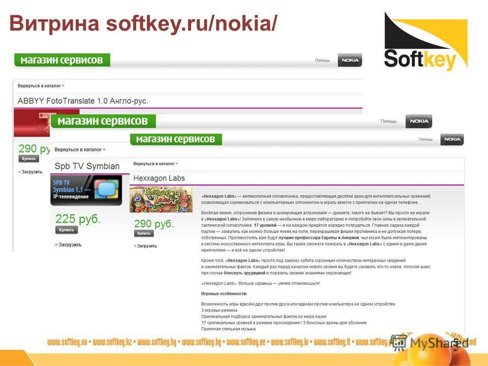 Витрина softkey.ru/nokia/ 5