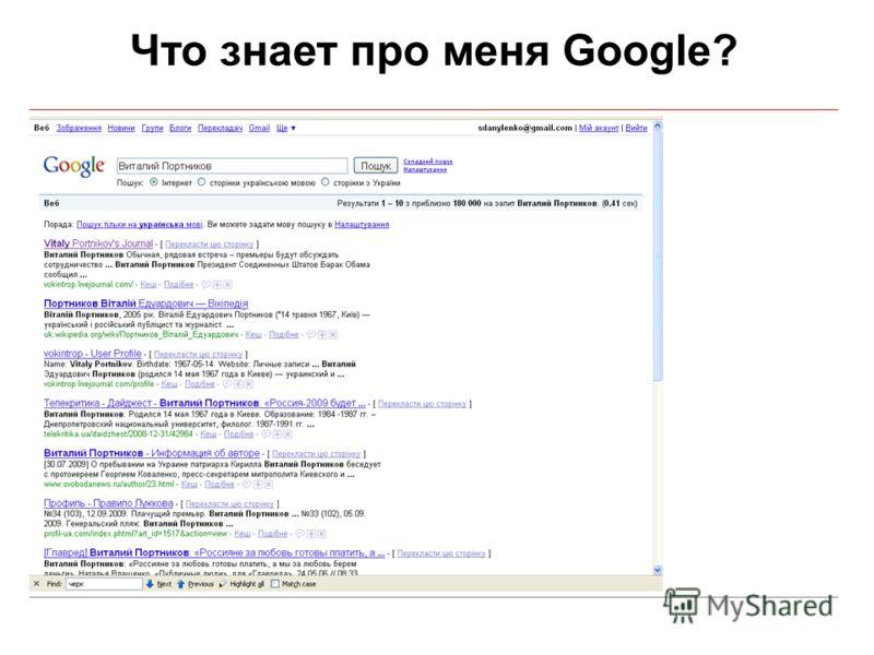 Что знает про меня Google?