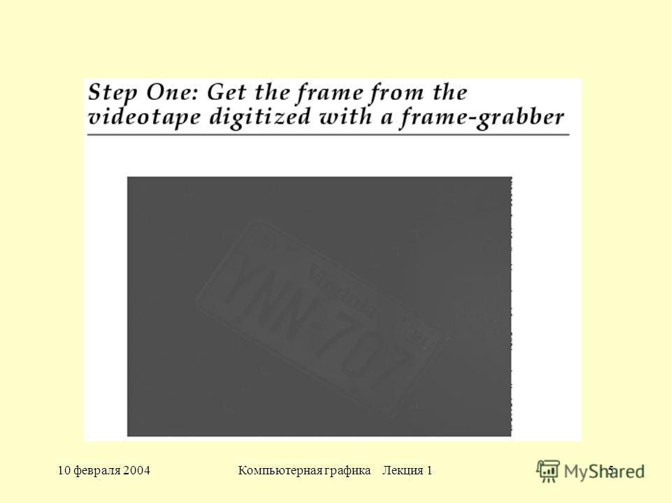 10 февраля 2004Компьютерная графика Лекция 15