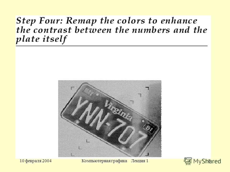 10 февраля 2004Компьютерная графика Лекция 18