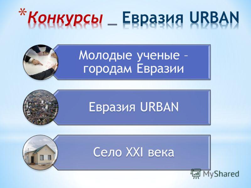 Молодые ученые – городам Евразии Евразия URBAN Село XXI века
