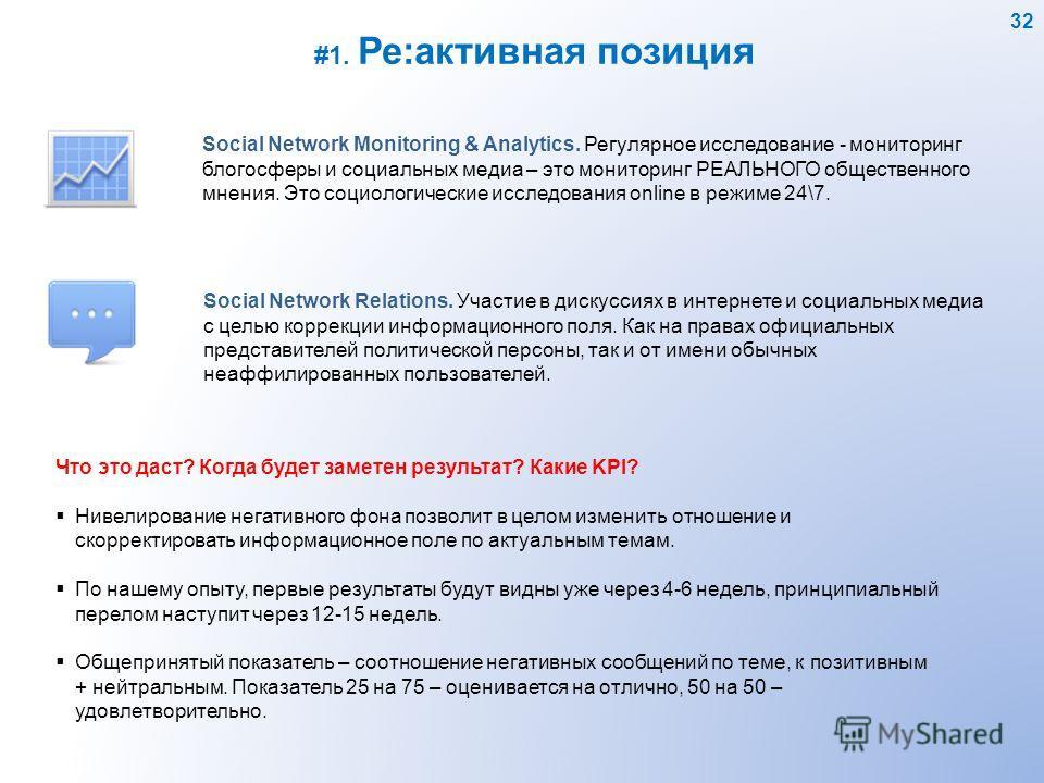 Social Network Monitoring & Analytics. Регулярное исследование - мониторинг блогосферы и социальных медиа – это мониторинг РЕАЛЬНОГО общественного мнения. Это социологические исследования online в режиме 24\7. Social Network Relations. Участие в диск