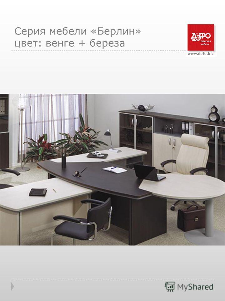 Серия мебели «Берлин» цвет: венге + береза