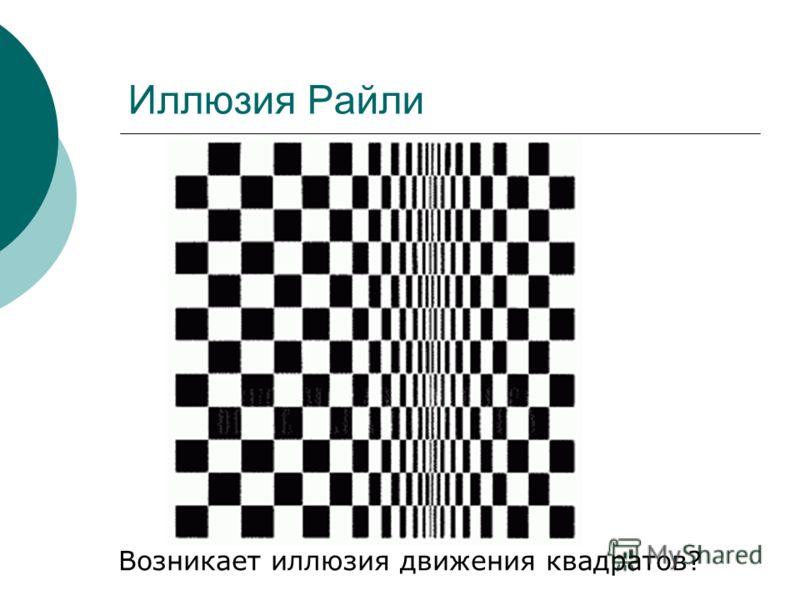 Иллюзия Райли Возникает иллюзия движения квадратов?