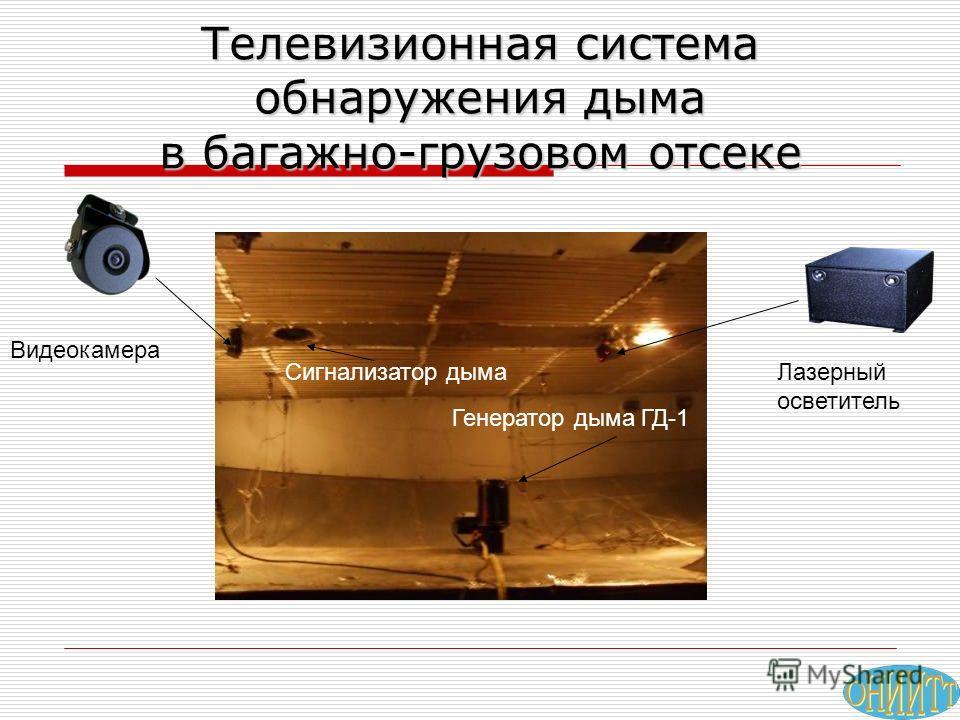 Телевизионная система обнаружения дыма в багажно-грузовом отсеке Сигнализатор дыма Генератор дыма ГД-1 Видеокамера Лазерный осветитель