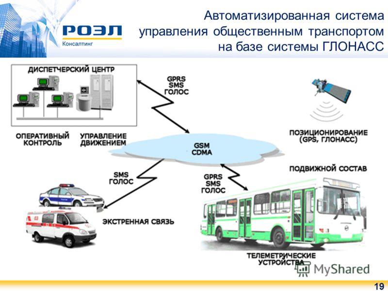 Автоматизированная система управления общественным транспортом на базе системы ГЛОНАСС 19
