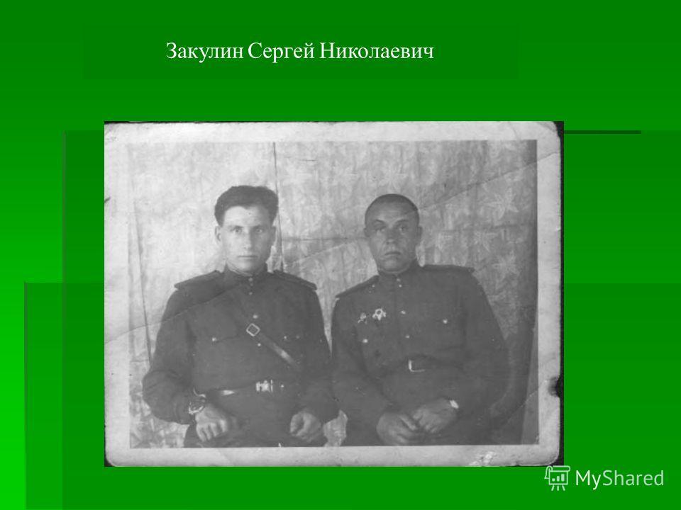 Закулин Сергей Николаевич