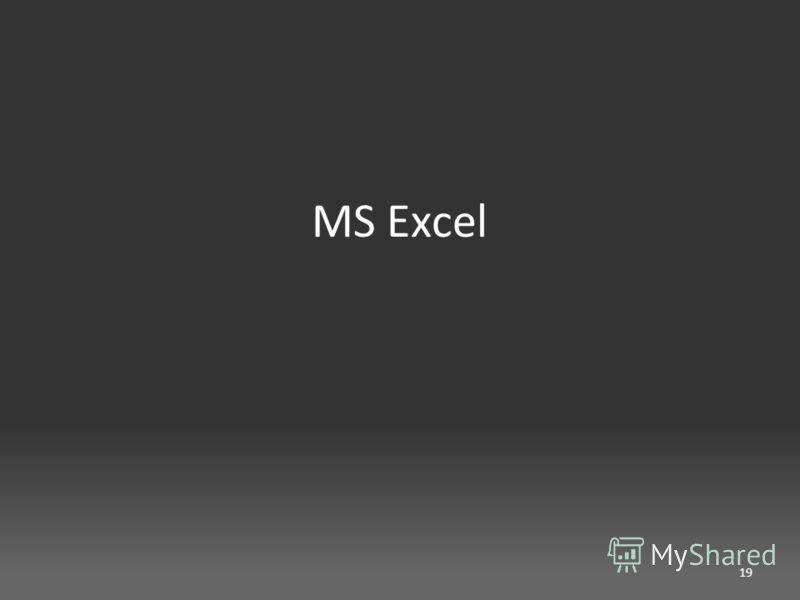 MS Excel 19