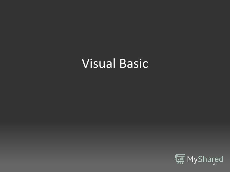 Visual Basic 20