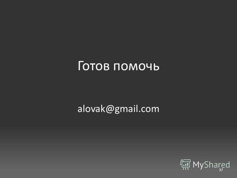 Готов помочь alovak@gmail.com 37