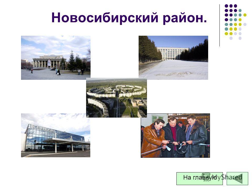 Новосибирский район. На главную