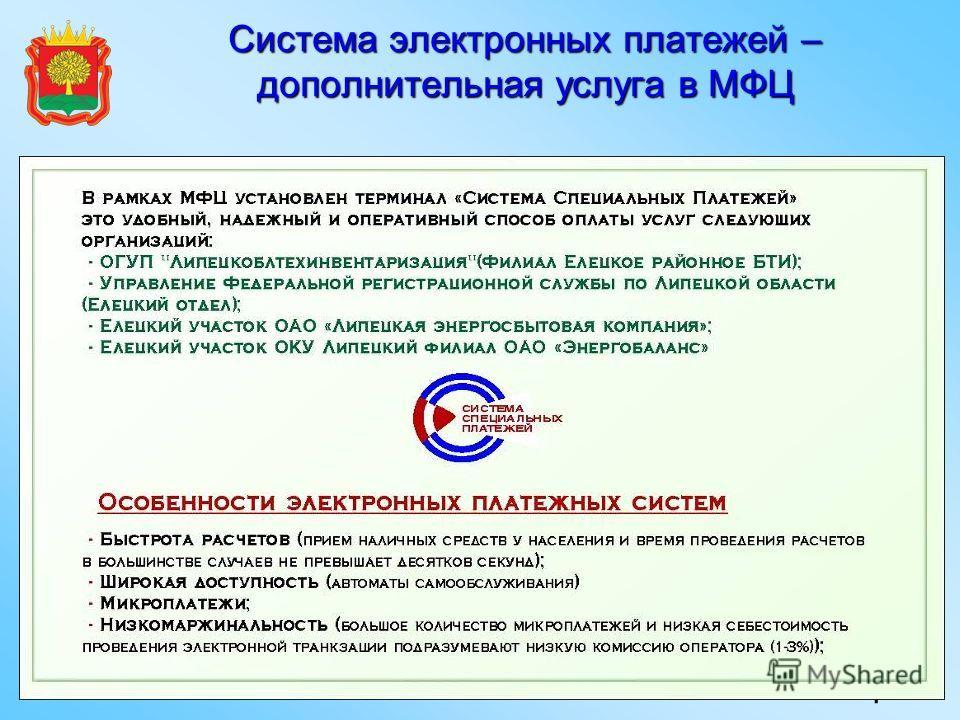 Система электронных платежей – дополнительная услуга в МФЦ 4