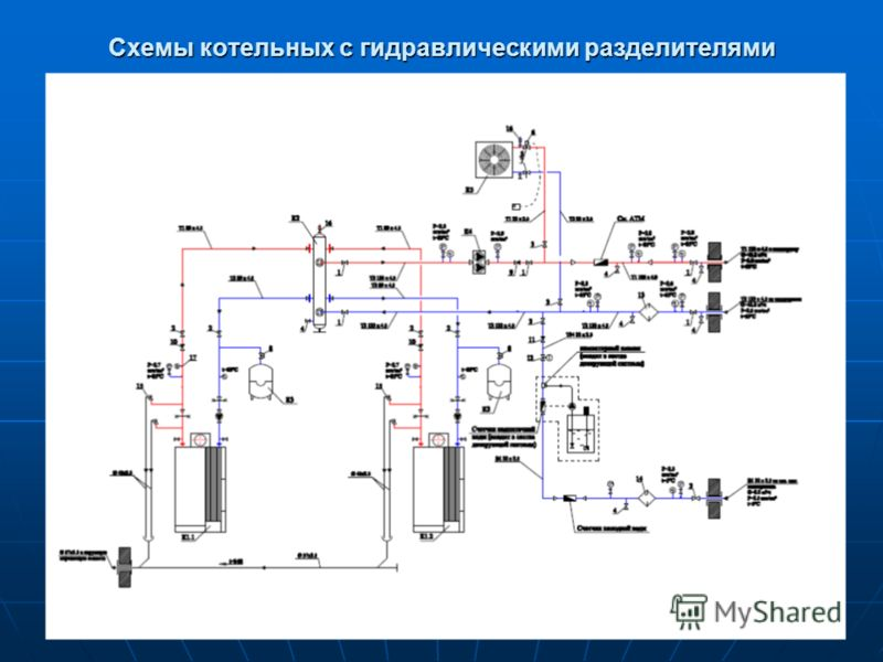 Схемы котельных с гидравлическими разделителями