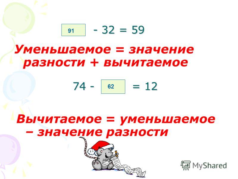 Вставьте пропущенное число 35 + = 52 17 Неизвестное слагаемое = = значение суммы – известное слагаемое + 13 = 69 56 2,1 * = 6,3 3 * 4 = 20,4 5,1 Неизвестный множитель = = произведение : известный множитель
