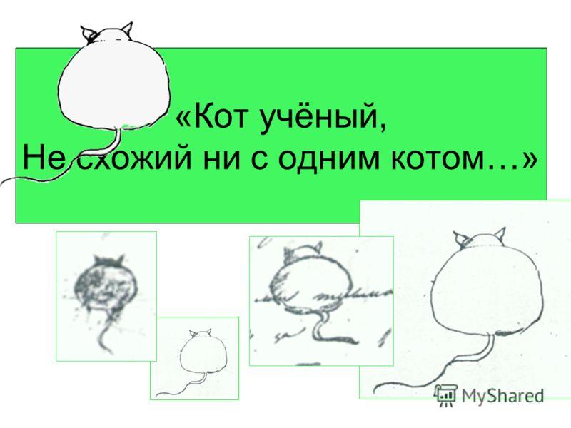 «Кот учёный, Не схожий ни с одним котом…»