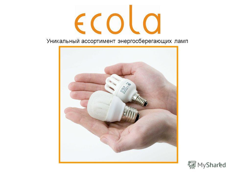 1 Уникальный ассортимент энергосберегающих ламп