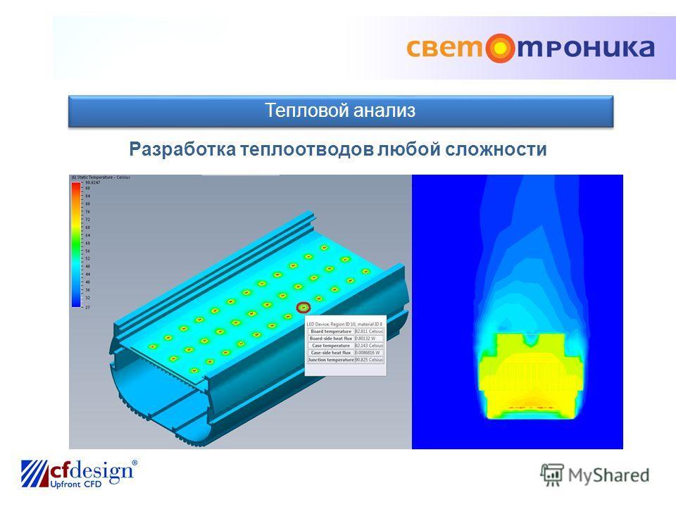Тепловой анализ Разработка теплоотводов любой сложности