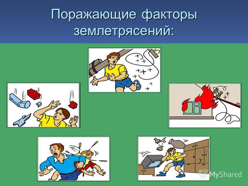 Поражающие факторы землетрясений: