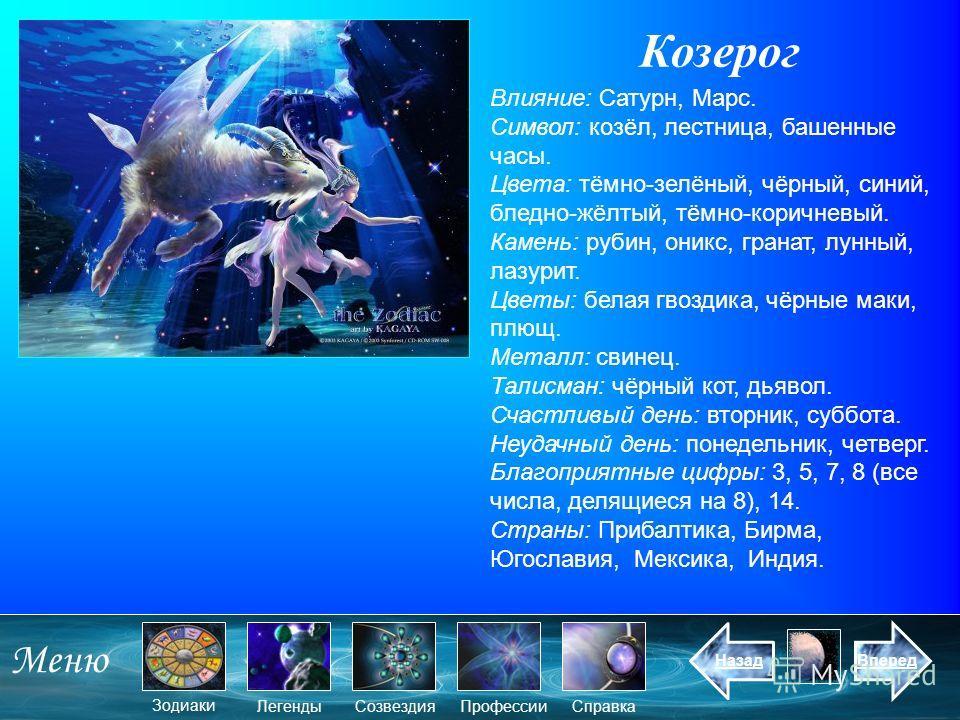 Презентация по знаку зодиака козерог