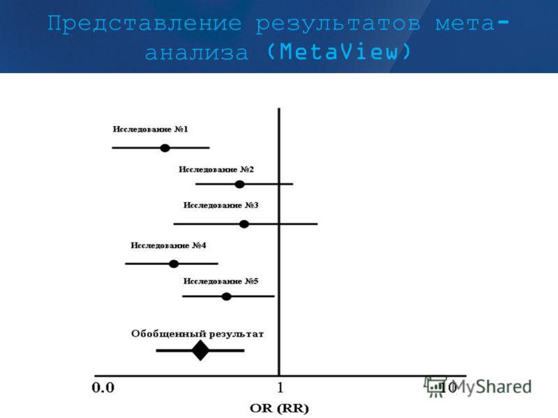 Представление результатов мета- анализа (MetaView)