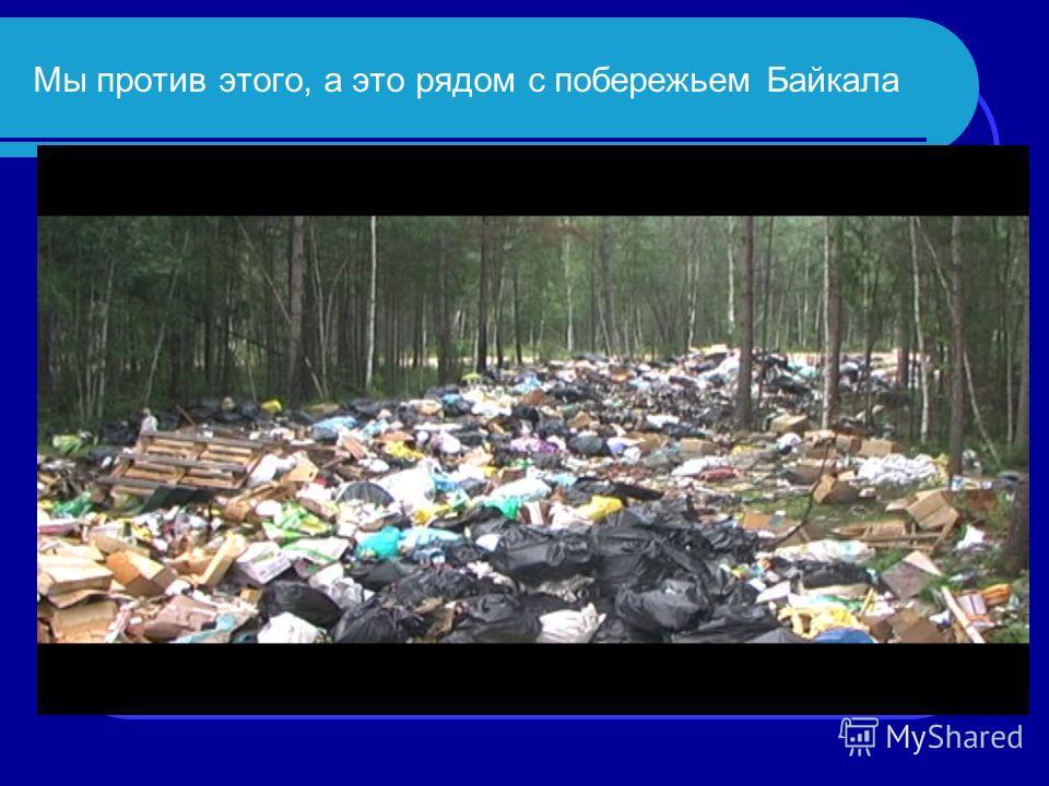 Мы против этого, а это рядом с побережьем Байкала