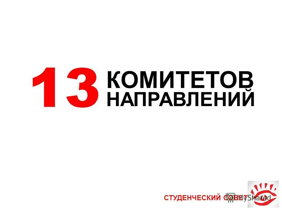 СТУДЕНЧЕСКИЙ СОВЕТ 13 КОМИТЕТОВ НАПРАВЛЕНИЙ