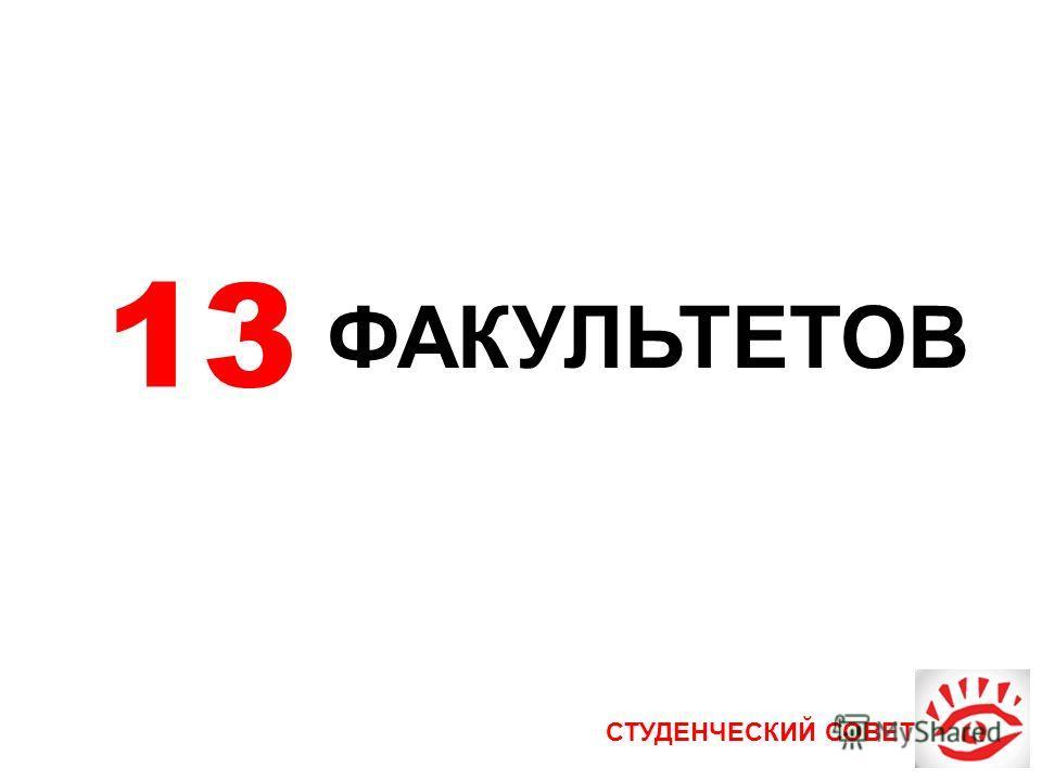 СТУДЕНЧЕСКИЙ СОВЕТ 13 ФАКУЛЬТЕТОВ