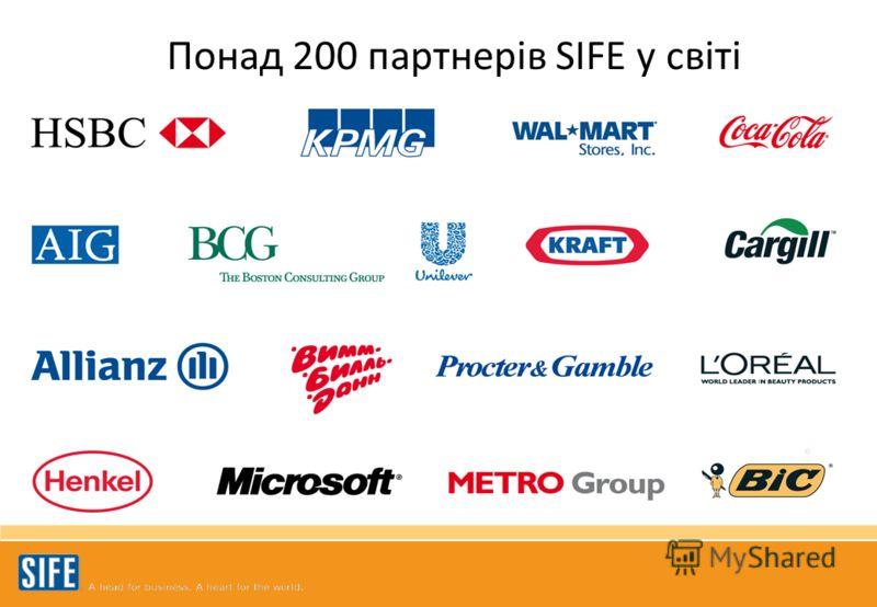 Понад 200 партнерів SIFE у світі