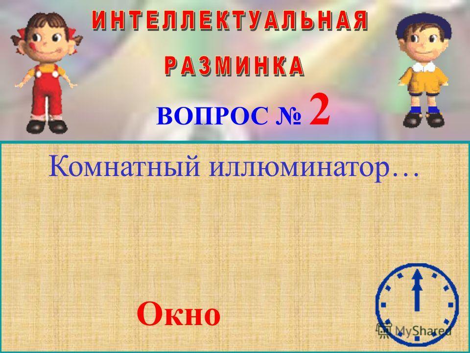 ВОПРОС 2 Комнатный иллюминатор… Окно