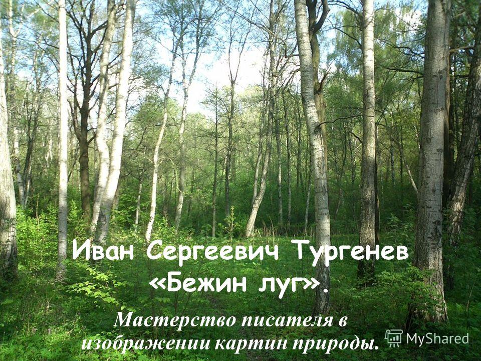 Иван Сергеевич Тургенев «Бежин луг». Мастерство писателя в изображении картин природы.