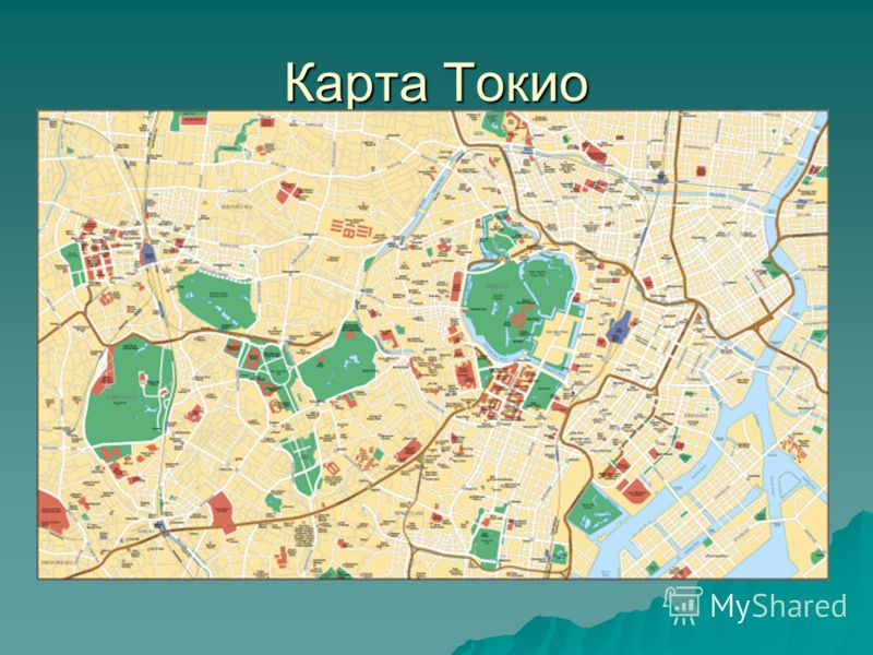 Карта Токио
