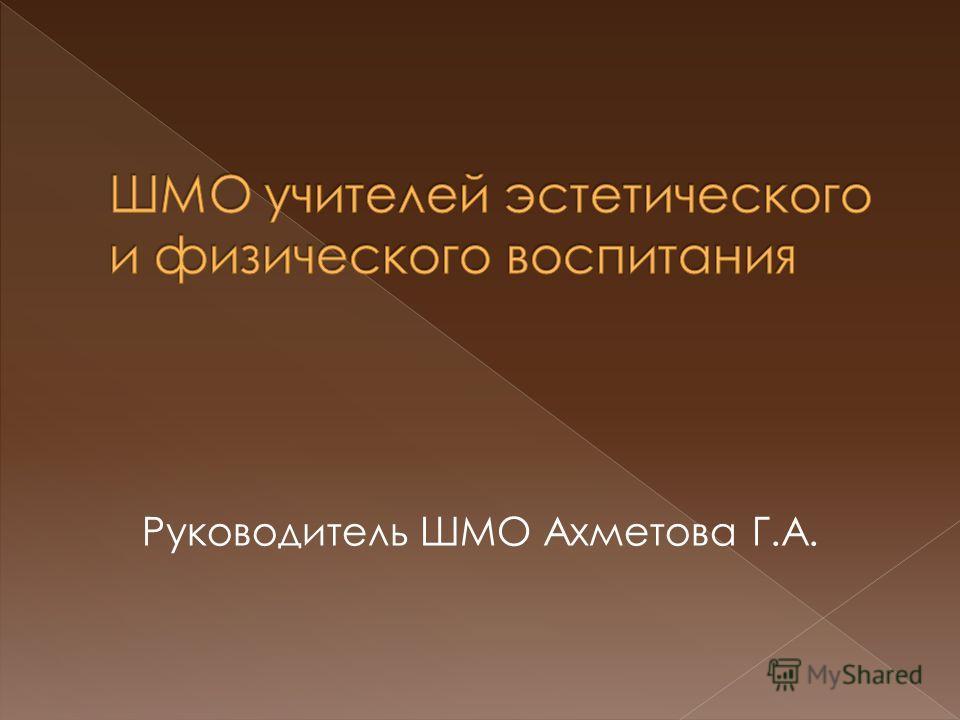 Руководитель ШМО Ахметова Г.А.