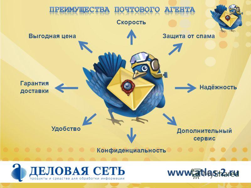 www.atlas-2.ru Гарантия доставки Скорость Удобство Конфиденциальность Выгодная ценаЗащита от спама Дополнительный сервис Надёжность