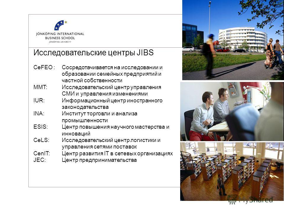 Некоторые примеры факультативных программ www.jibs.se © Jönköping International Business School Менеджмент –Маркетинг Business-to-Business –Креативность в предпринимательстве –Случайный маркетинг & Брэндинг –Международный маркетинг –Международный мен